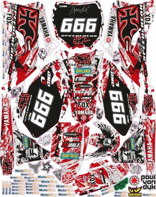 Комплект наклеек Yamaha YZF-250-450 2006-2009