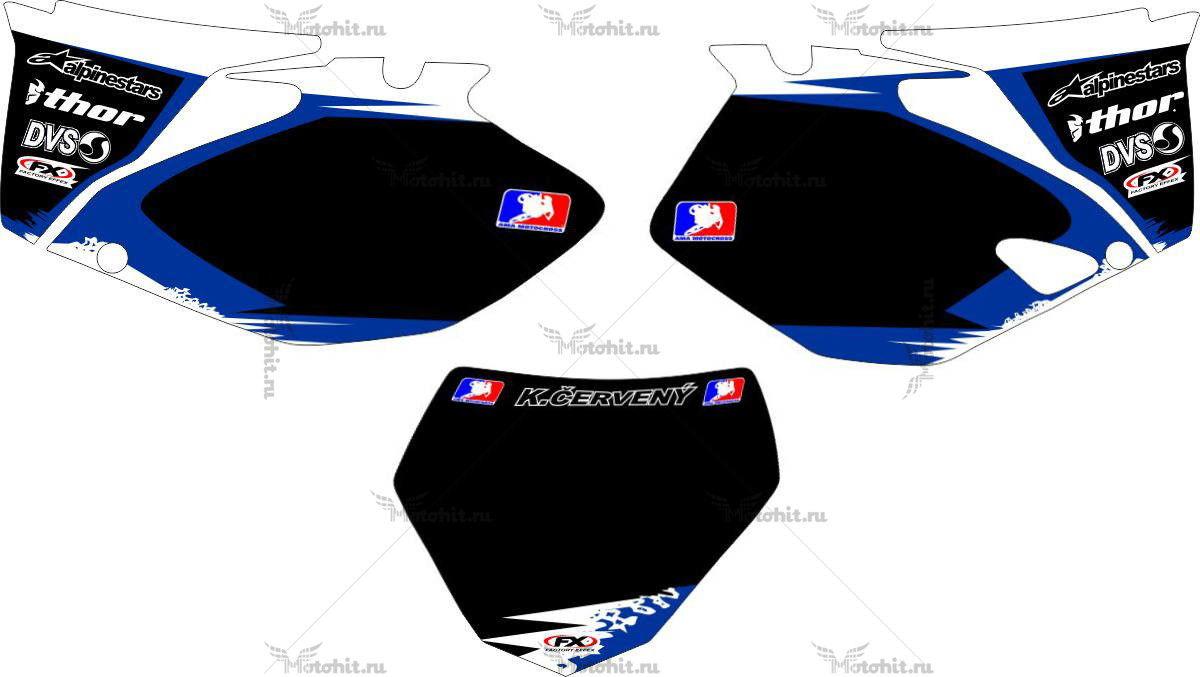 Комплект наклеек Yamaha YZF-250 2008-2009-CERVENY