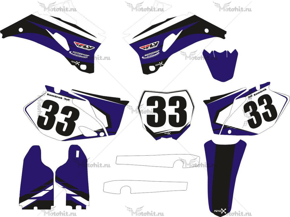 Комплект наклеек Yamaha YZF-250 2008 NINA