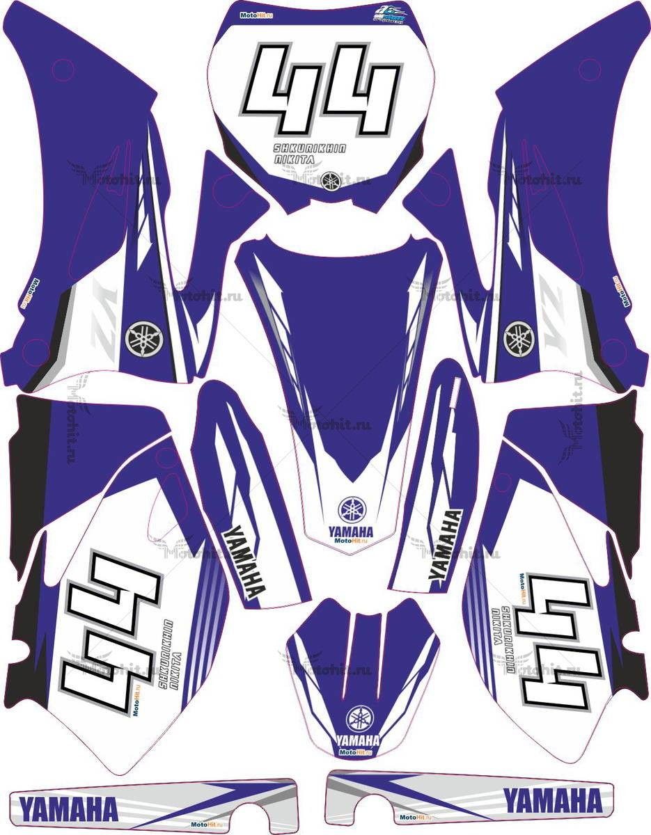 Комплект наклеек Yamaha YZF-250 2008 ORIGINAL