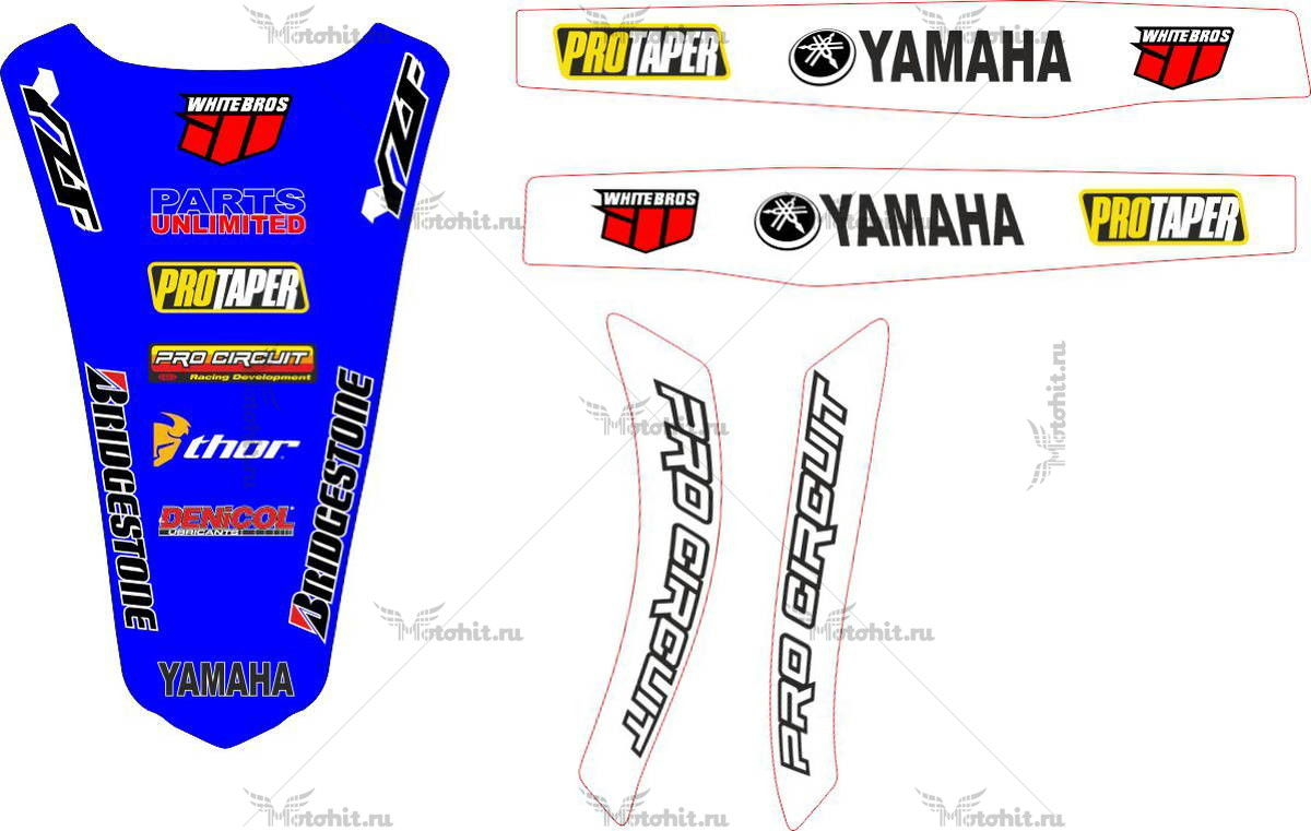 Комплект наклеек Yamaha YZF-250 2009 PART