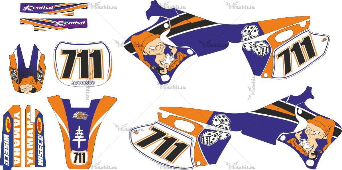 Комплект наклеек Yamaha YZF-250 BADBOY