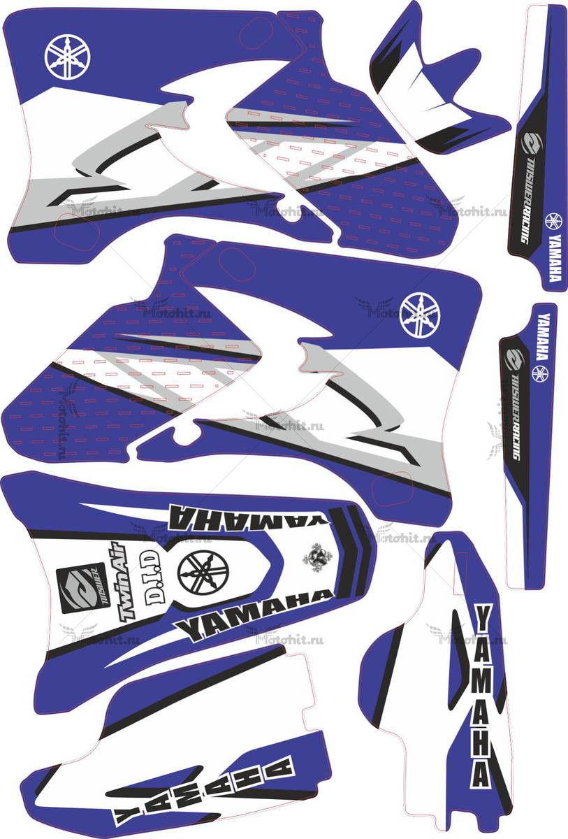 Комплект наклеек Yamaha YZF-250 YZF-450 2003 2005 ORIGINAL