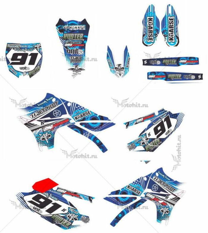 Комплект наклеек Yamaha YZF-250 YZF-450 2010-2013 DIGGER