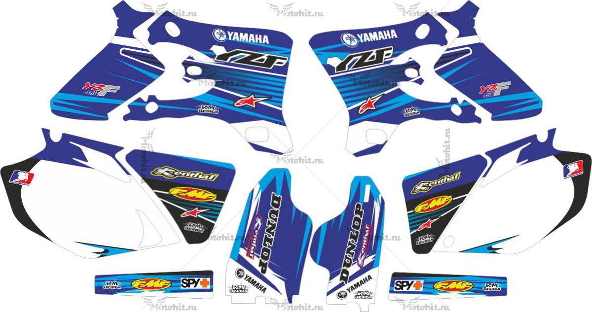 Комплект наклеек Yamaha YZF-450 2005 BLUE