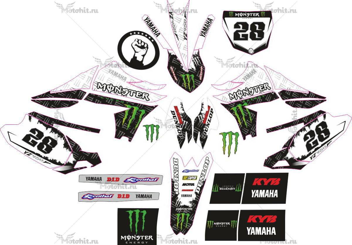 Комплект наклеек Yamaha YZF-450 2010