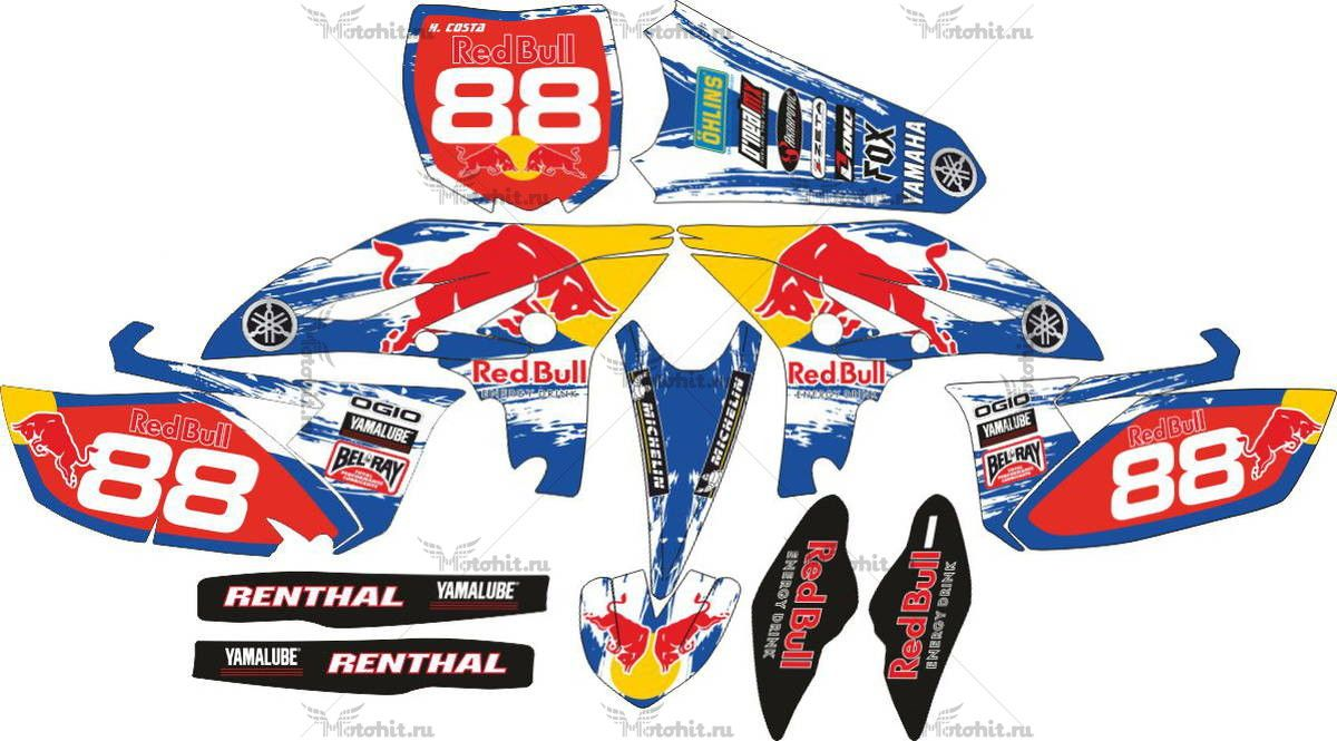 Комплект наклеек Yamaha YZF 2011 RED-BULL
