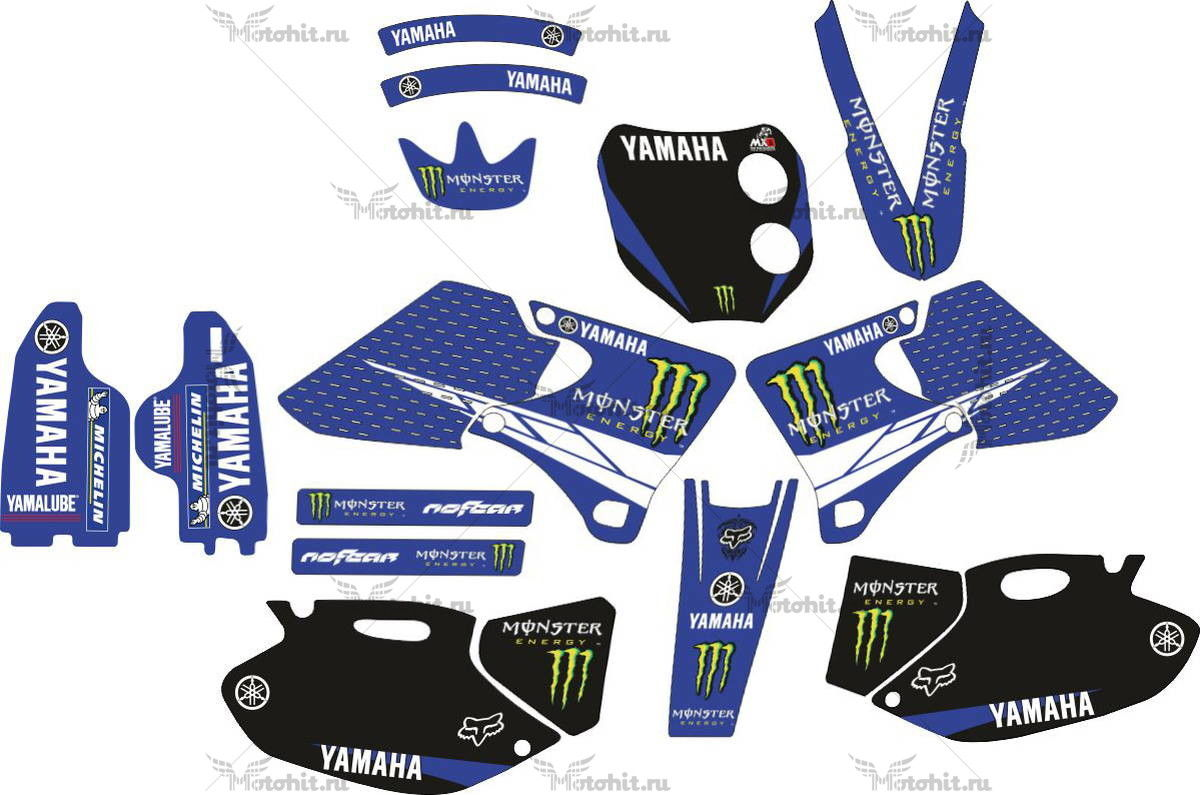 Комплект наклеек Yamaha YZF-400 1998-2002 MONSTER-BLUE