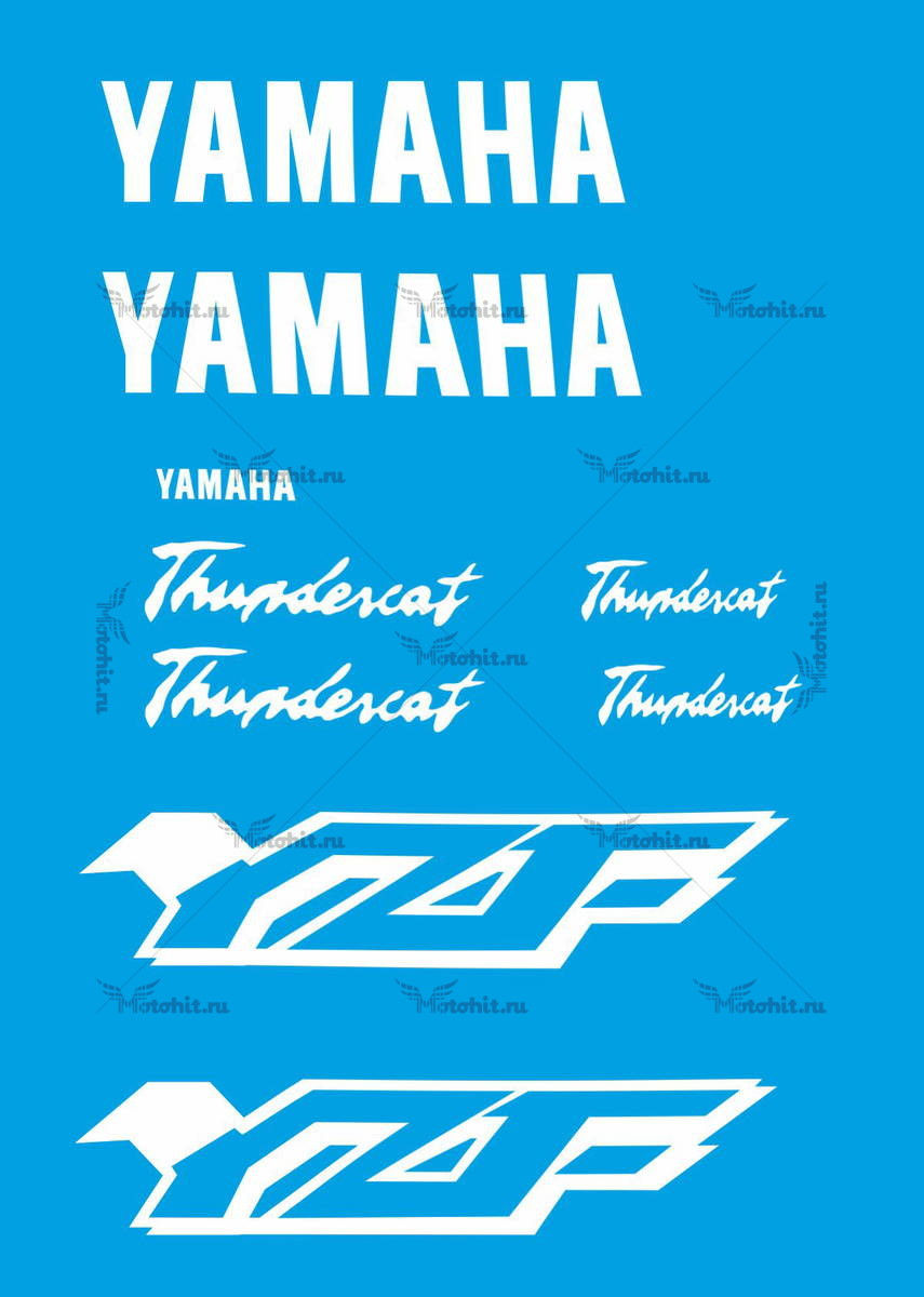 Комплект наклеек Yamaha YZF-600 2003 THUNDERCAT