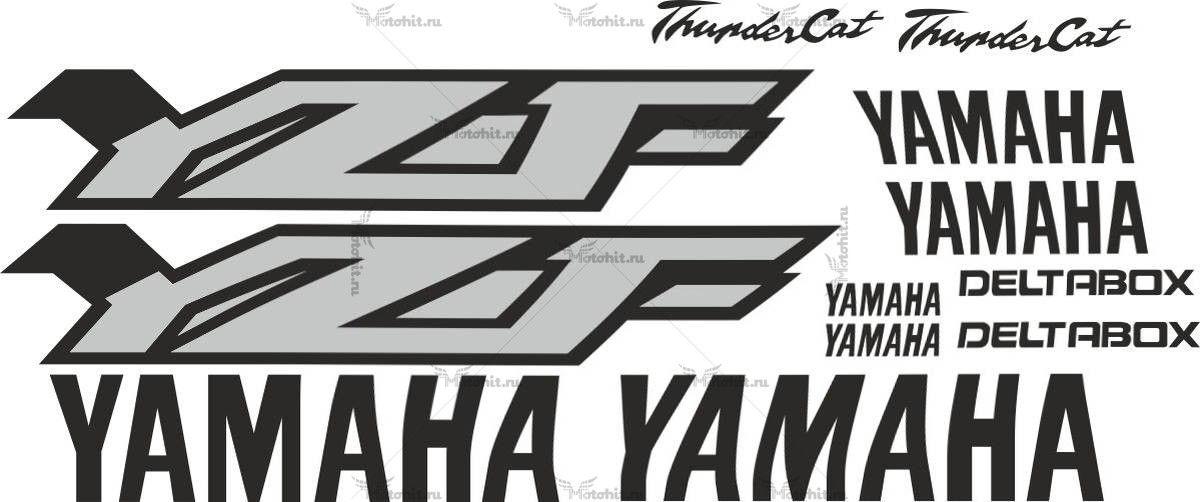 Комплект наклеек Yamaha YZF-600 THUNDERCAT-BLACK