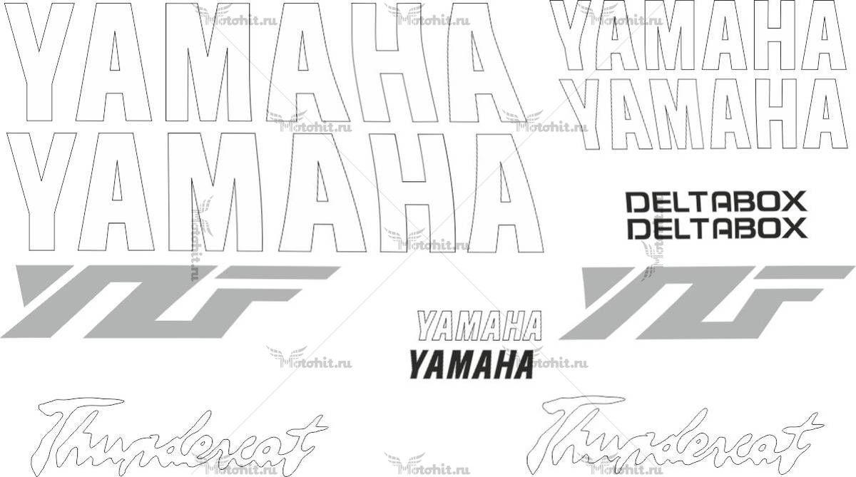 Комплект наклеек Yamaha YZF-600 THUNDERCAT-SILVER