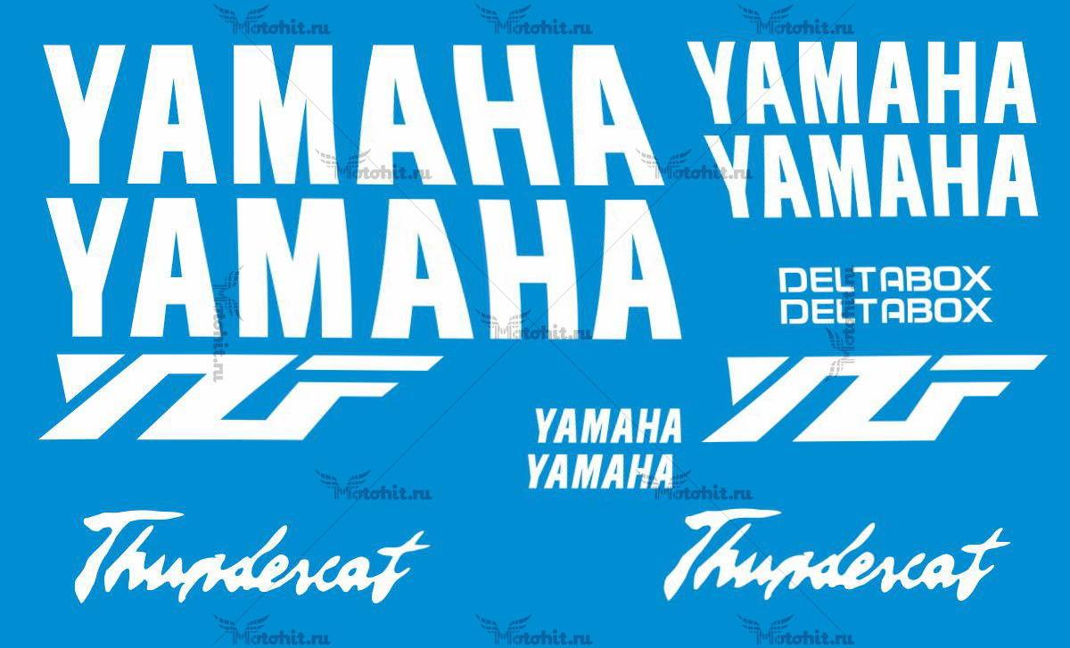 Комплект наклеек Yamaha YZF-600 THUNDERCAT-WHITE