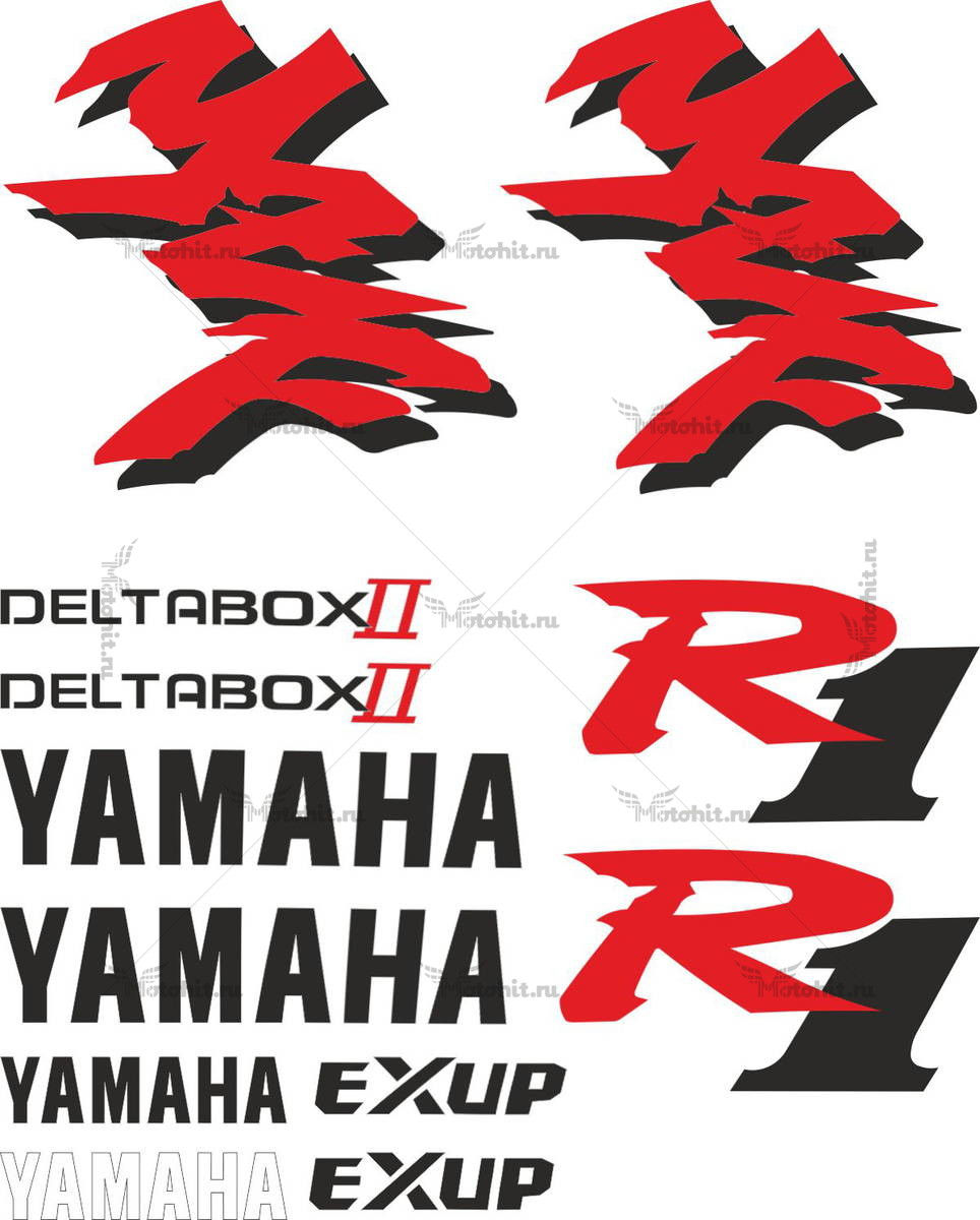Комплект наклеек Yamaha YZF-R1 1998 TXT