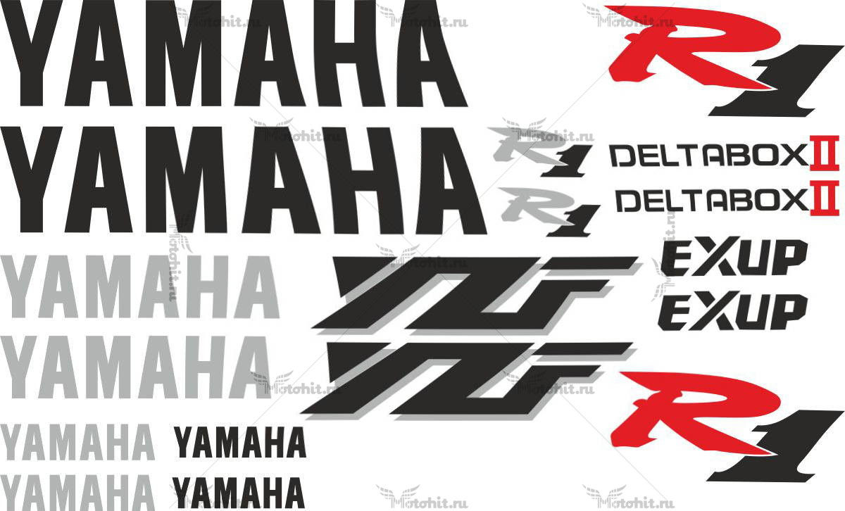 Комплект наклеек Yamaha YZF-R1 1999