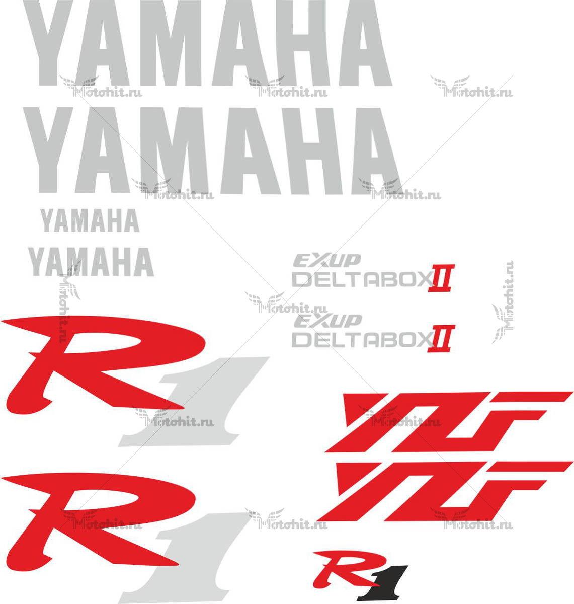 Комплект наклеек Yamaha YZF-R1 1999-2003 PROMO