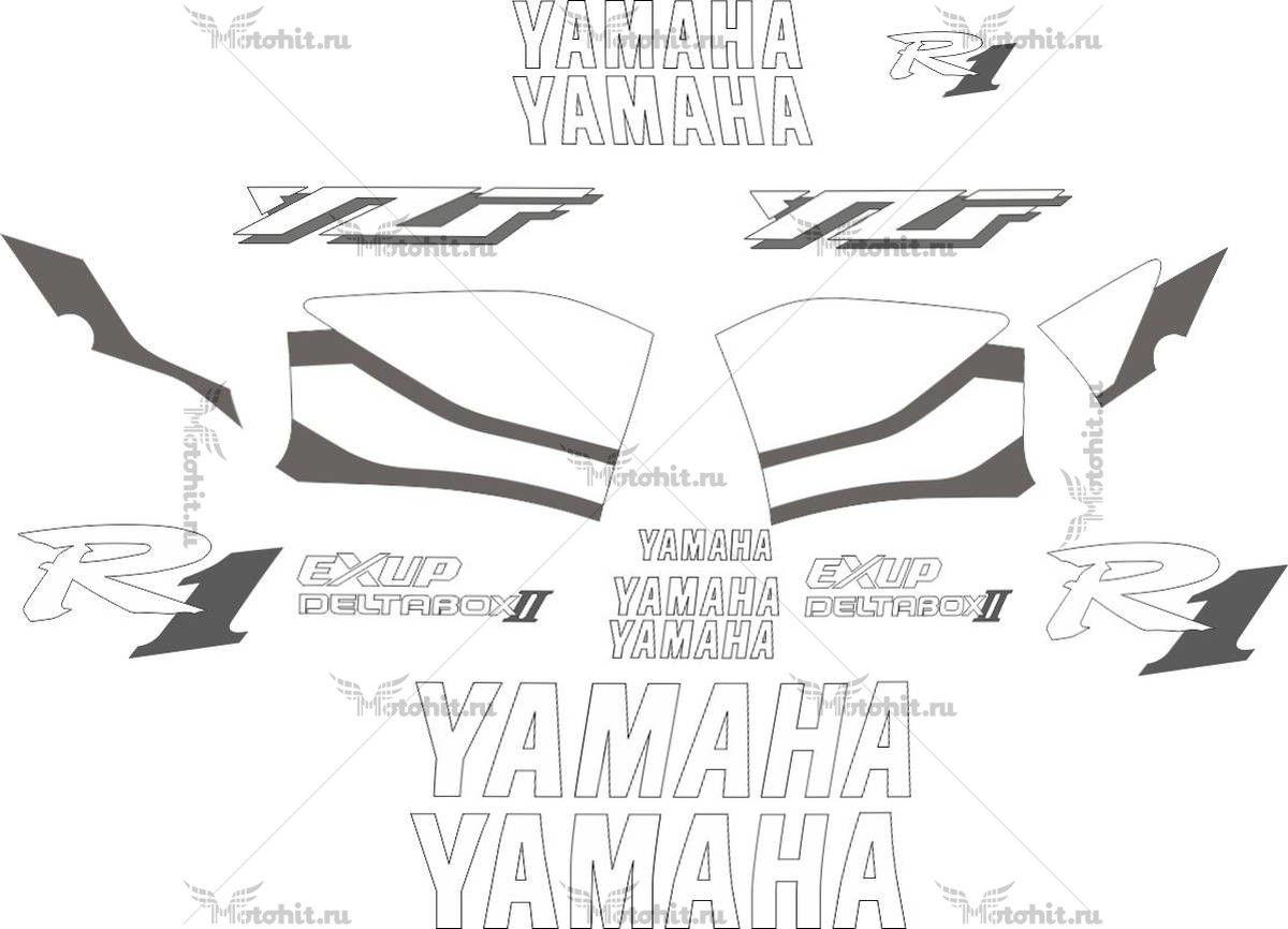 Комплект наклеек Yamaha YZF-R1 1999 WHITE-R