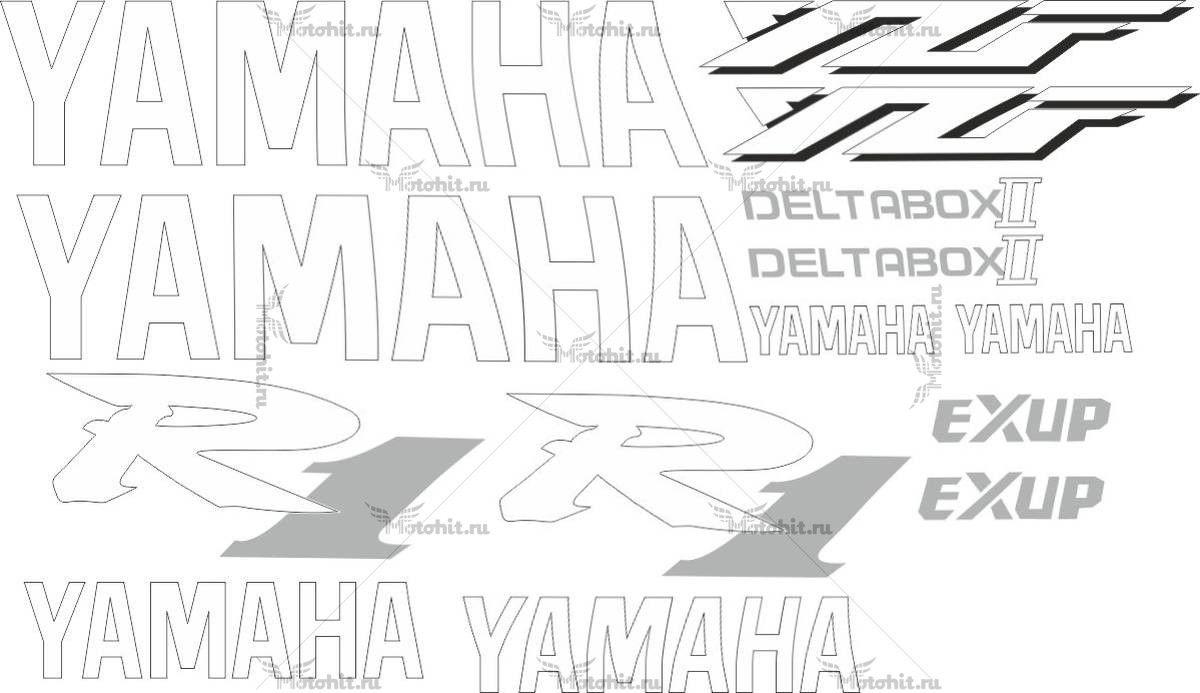 Комплект наклеек Yamaha YZF-R1 2000
