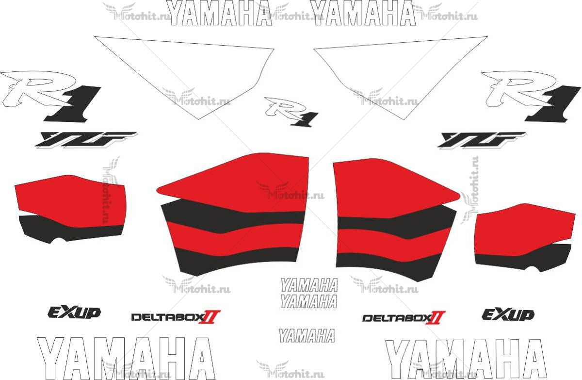 Комплект наклеек Yamaha YZF-R1 2000 RED