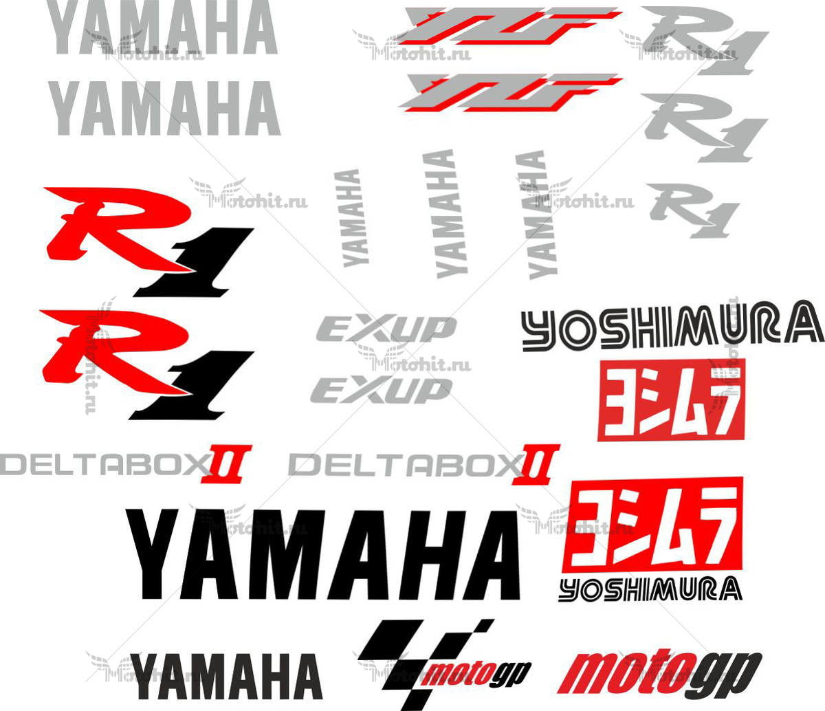 Комплект наклеек Yamaha YZF-R1 2000 YOUSHIMURA
