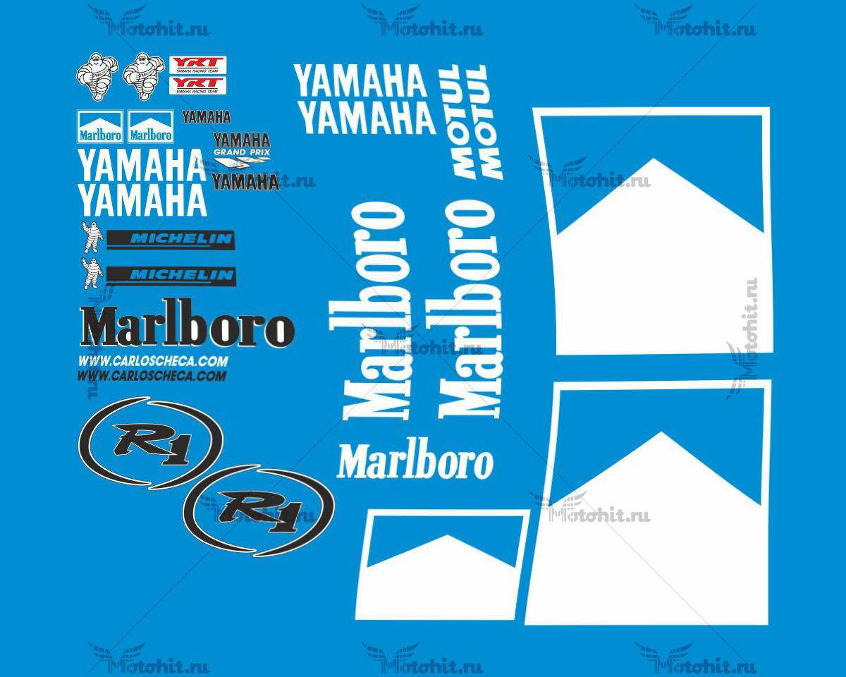 Комплект наклеек Yamaha YZF-R1 2001 CHECCA
