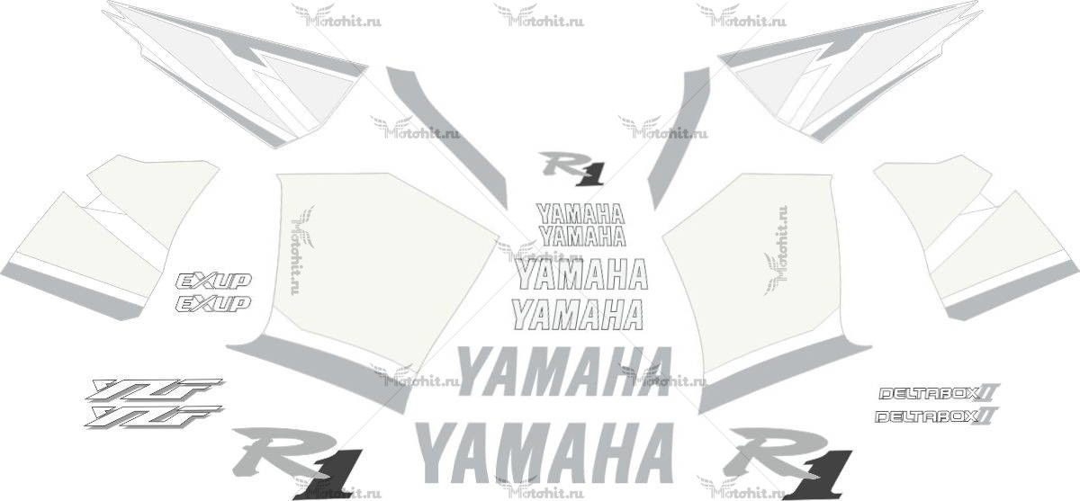 Комплект наклеек Yamaha YZF-R1 2001 SILVER