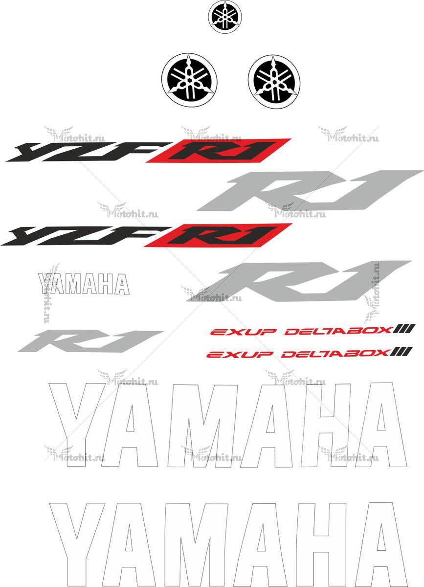 Комплект наклеек Yamaha YZF-R1 2002 TXT