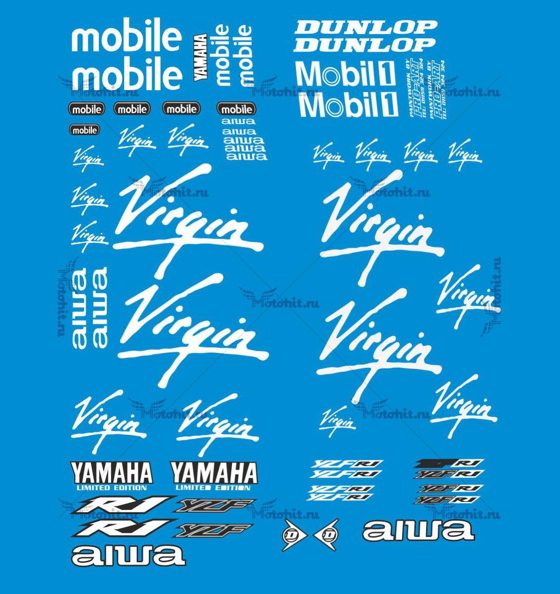 Комплект наклеек Yamaha YZF-R1 2002 VIRGIN-NONORIG