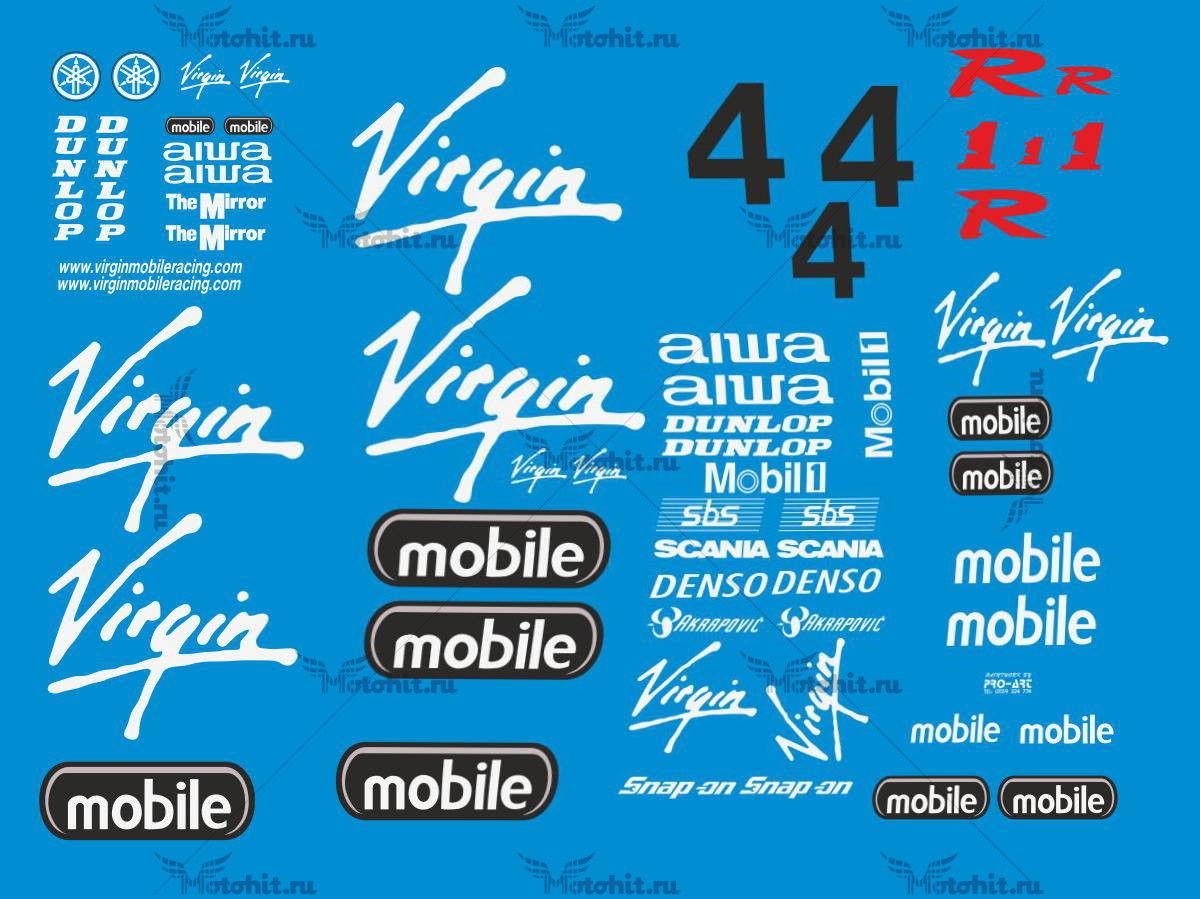 Комплект наклеек Yamaha YZF-R1 2002 VIRGIN-ORIG