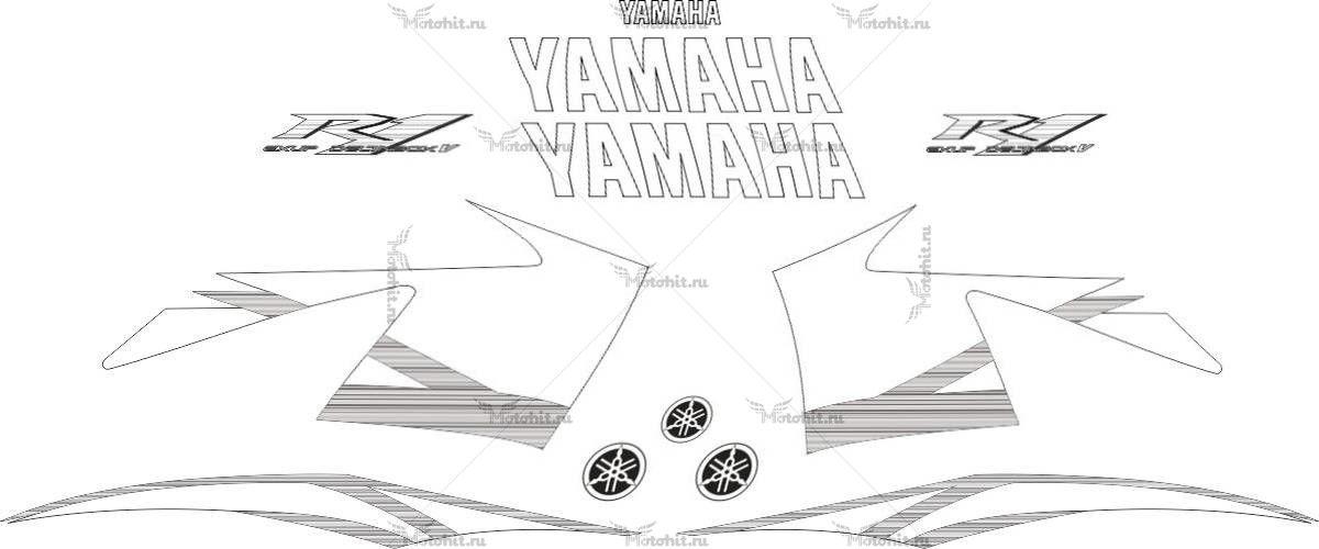 Комплект наклеек Yamaha YZF-R1 2004