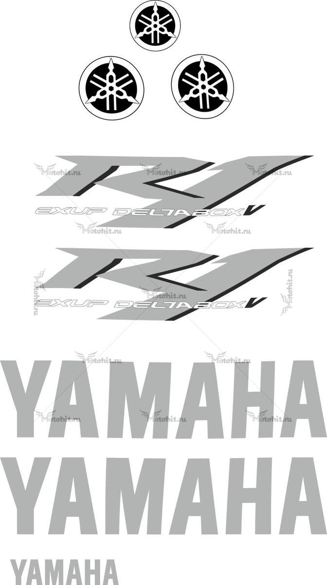 Комплект наклеек Yamaha YZF-R1 2004 TXT