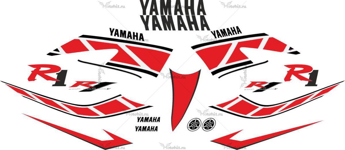 Комплект наклеек Yamaha YZF-R1 2006 ANIVERSARY-RED