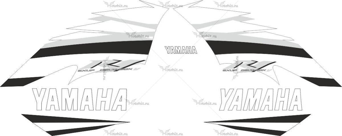 Комплект наклеек Yamaha YZF-R1 2006 BLUE