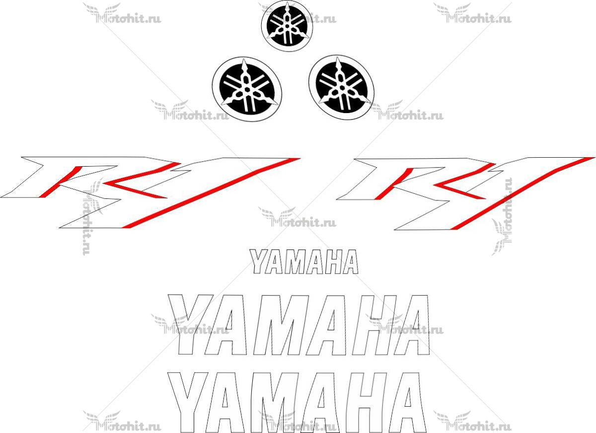 Комплект наклеек Yamaha YZF-R1 2007-2008 TXT