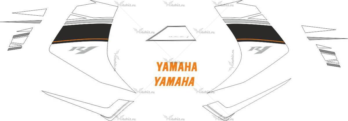 Комплект наклеек Yamaha YZF-R1 2008 BLUE