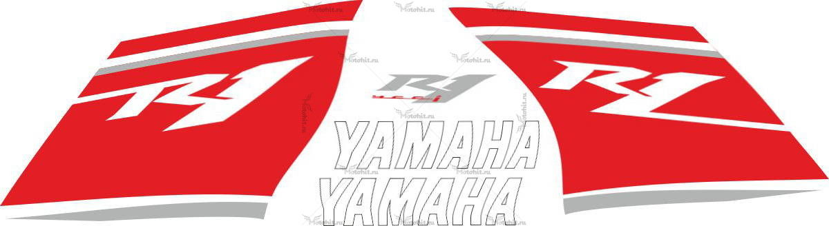 Комплект наклеек Yamaha YZF-R1 2008 RED