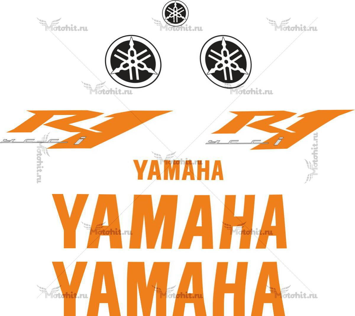 Комплект наклеек Yamaha YZF-R1 2009 TXT