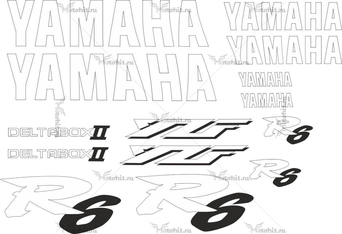 Комплект наклеек Yamaha YZF-R6 1998