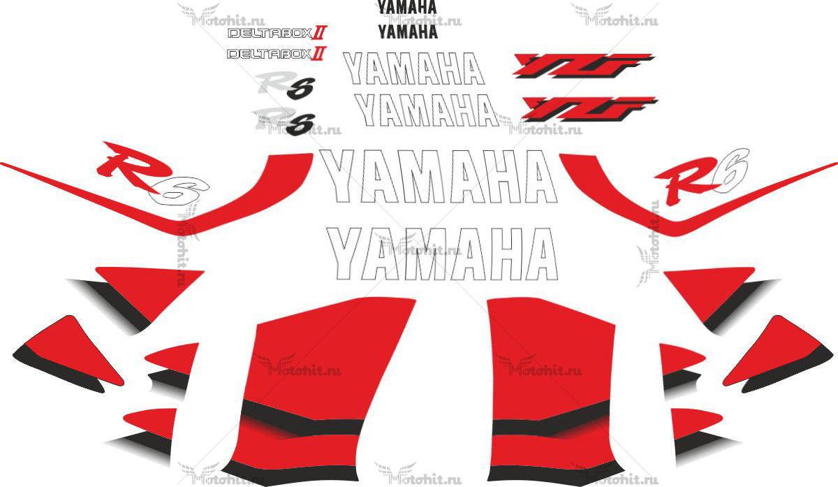 Комплект наклеек Yamaha YZF-R6 1999