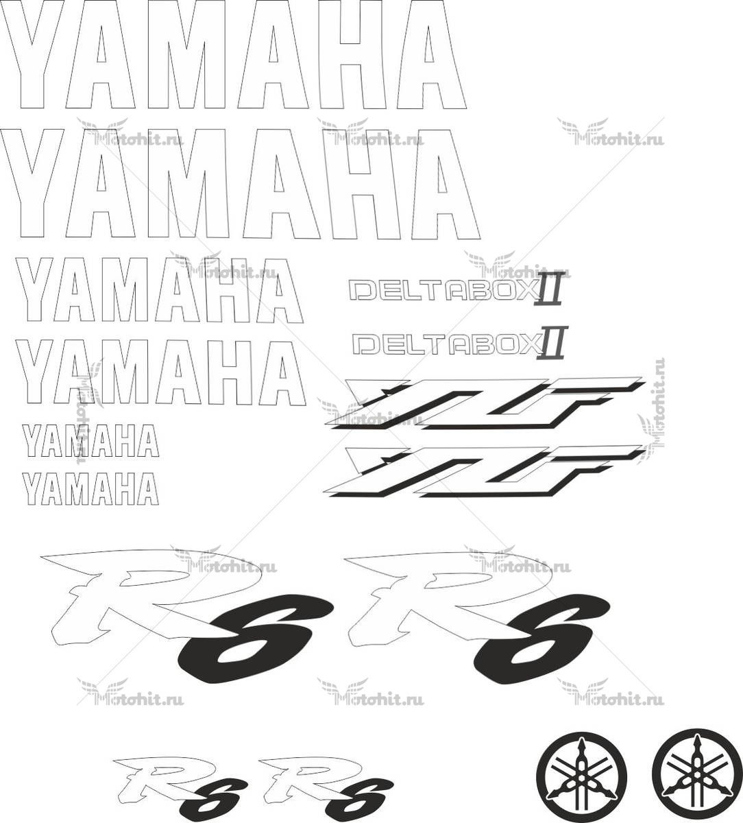 Комплект наклеек Yamaha YZF-R6 1999 2