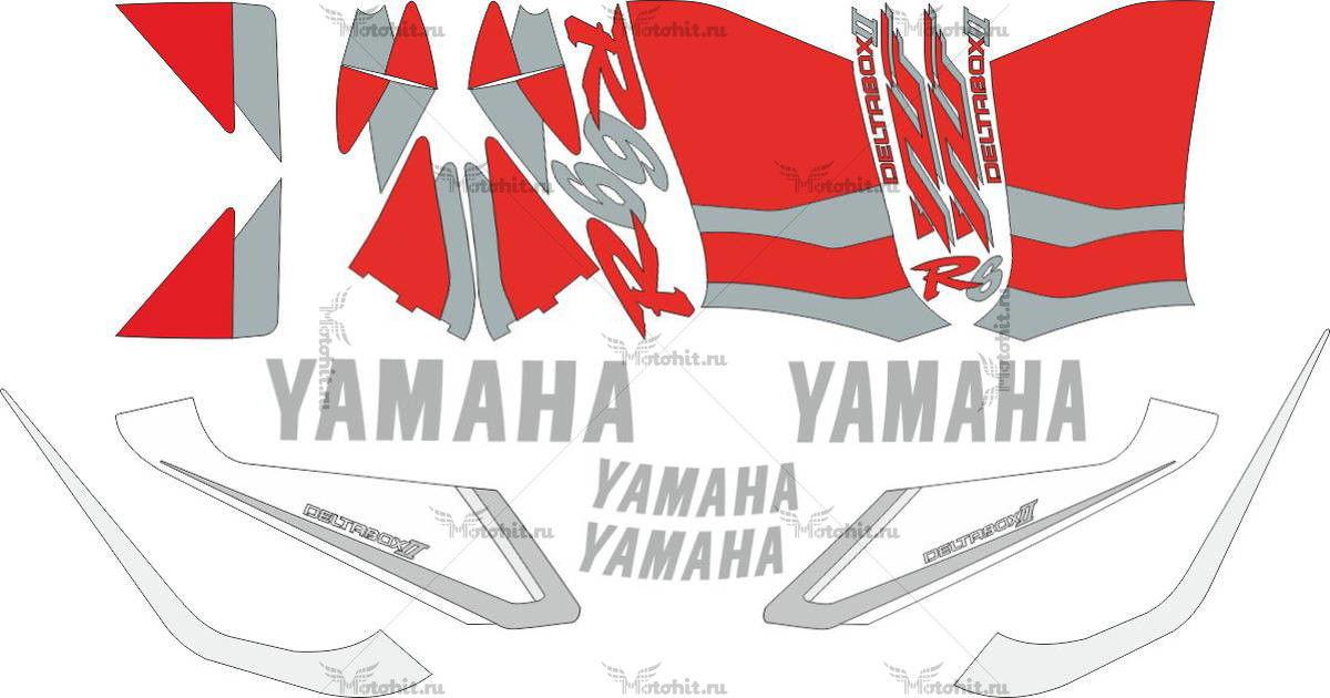 Комплект наклеек Yamaha YZF-R6 1999-2000