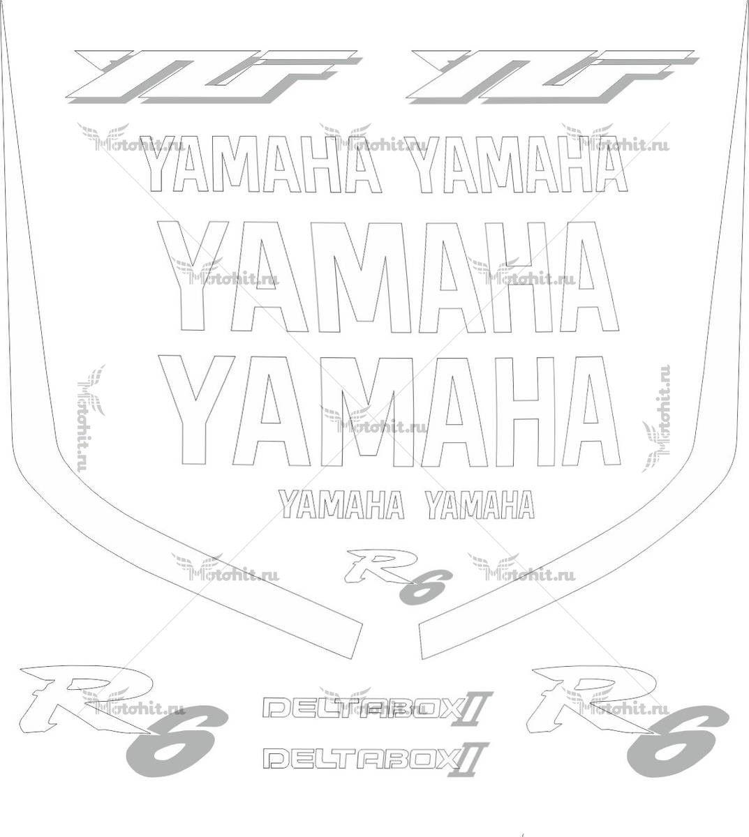 Комплект наклеек Yamaha YZF-R6 2000