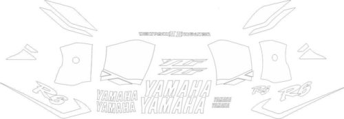 Комплект наклеек Yamaha YZF-R6 2001 ALL-WHITE