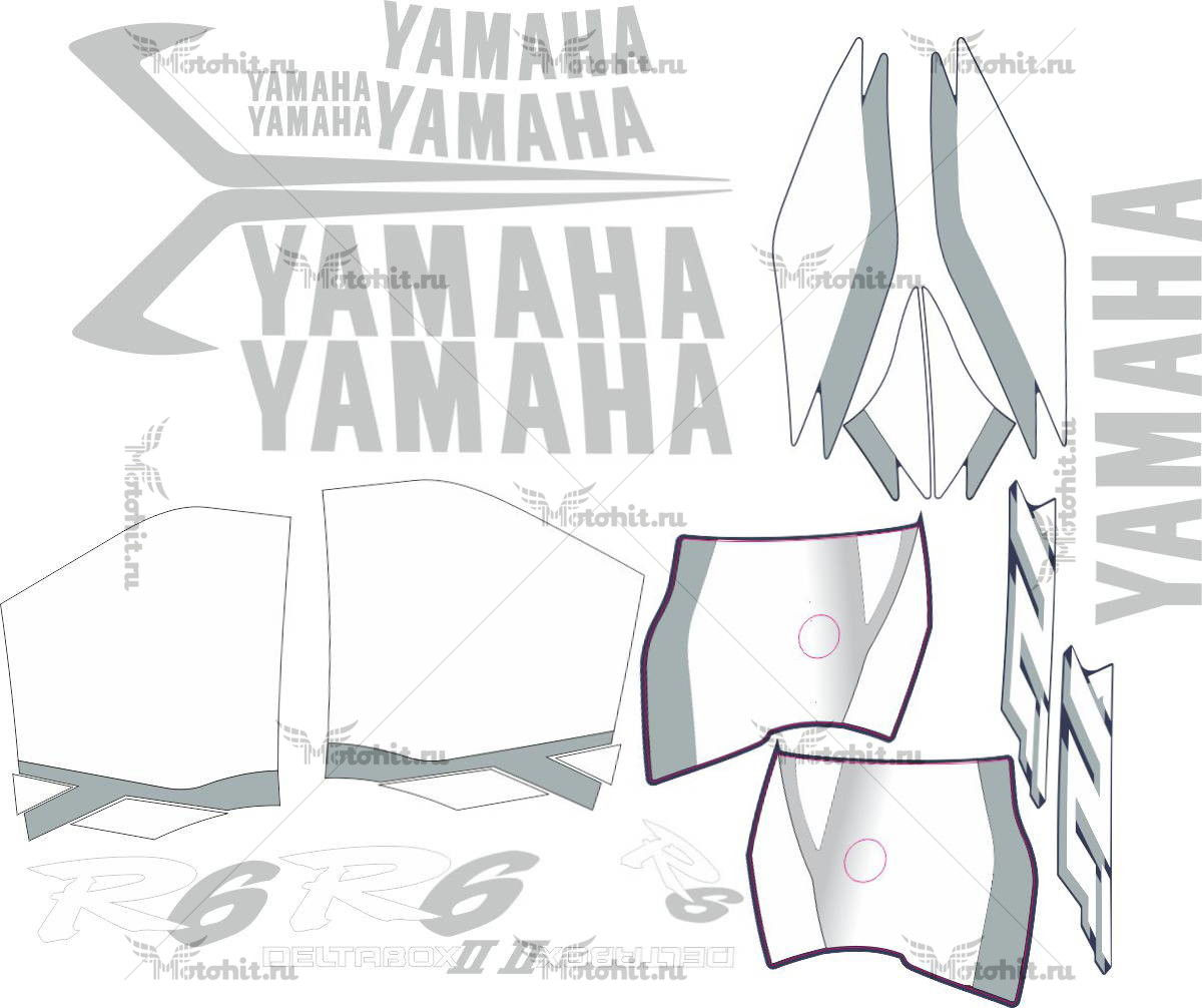 Комплект наклеек Yamaha YZF-R6 2001 MINI