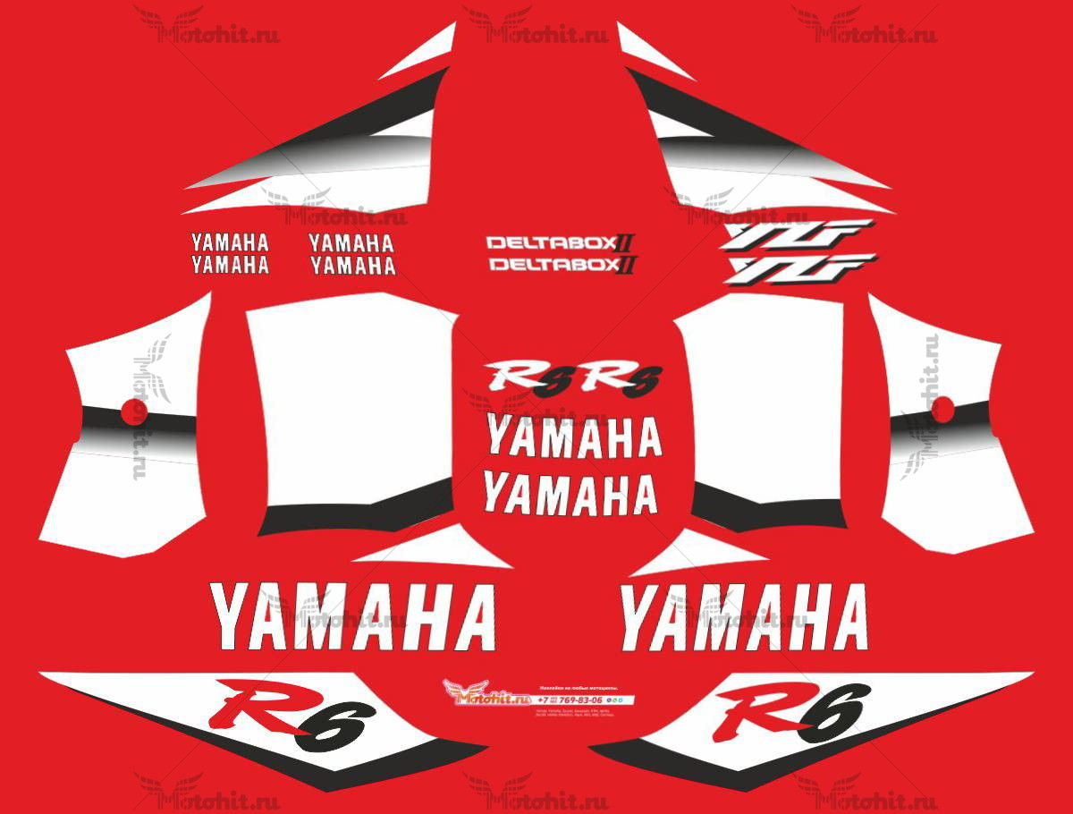 Комплект наклеек Yamaha YZF-R6 2002 GRADIENT