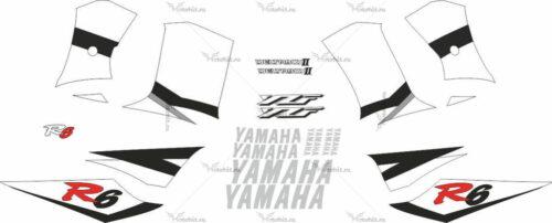 Комплект наклеек Yamaha YZF-R6 2002 SIDES