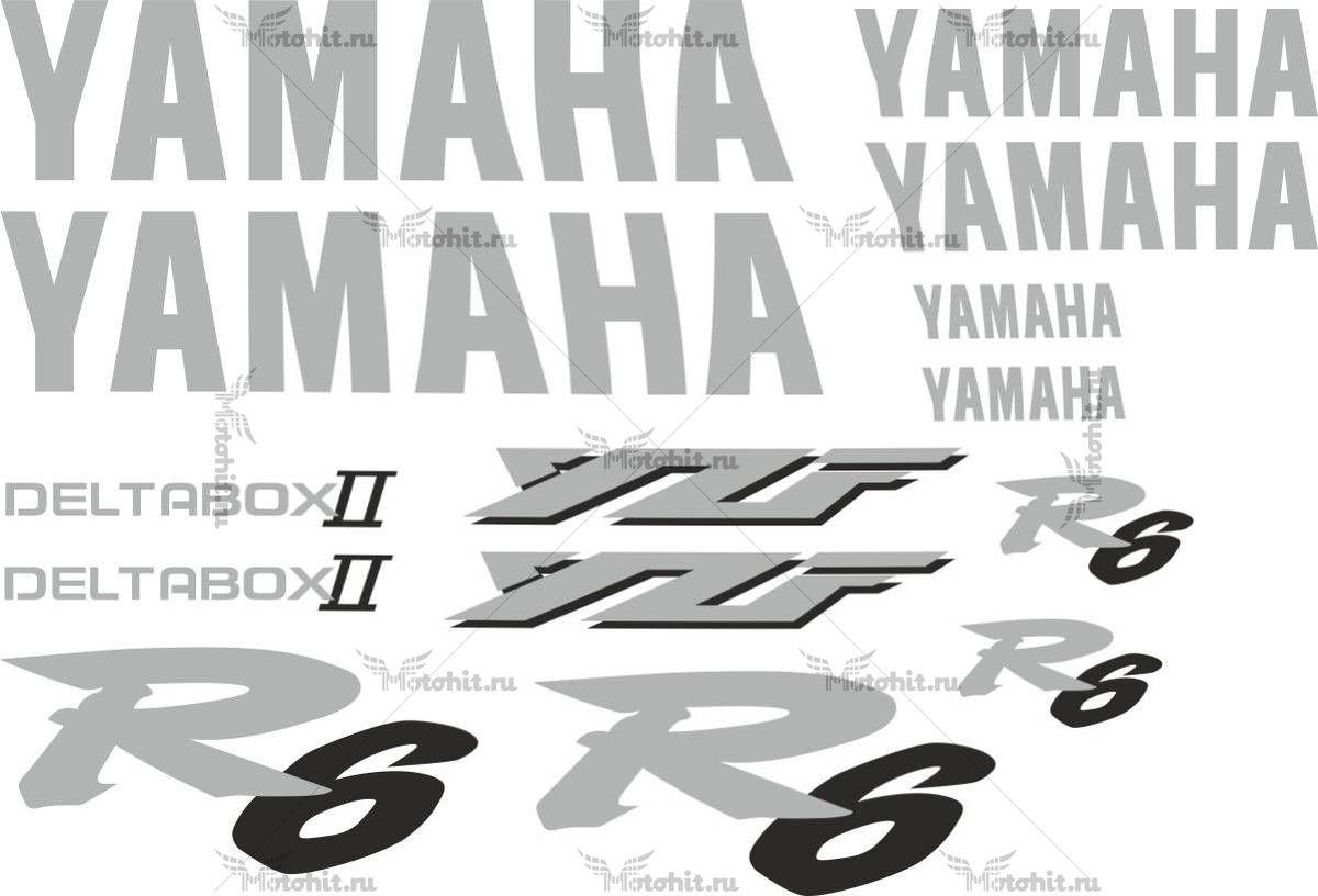 Комплект наклеек Yamaha YZF-R6 2002 TXT