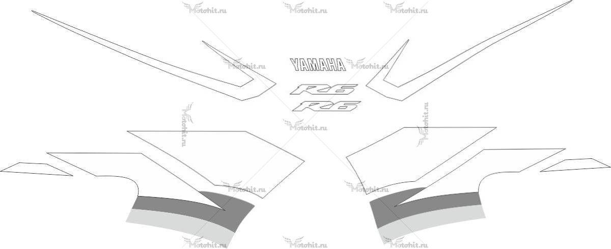 Комплект наклеек Yamaha YZF-R6 2003