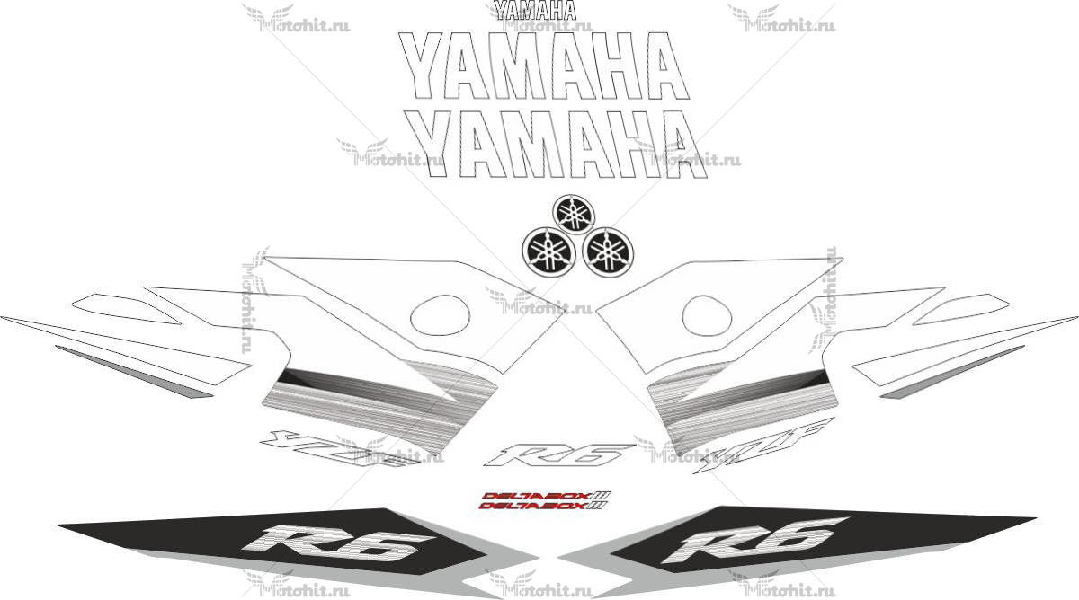 Комплект наклеек Yamaha YZF-R6 2003 2