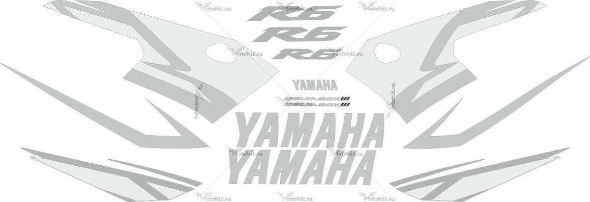 Комплект наклеек Yamaha YZF-R6 2004