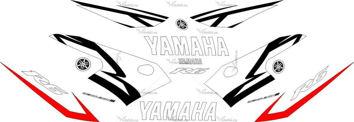 Комплект наклеек Yamaha YZF-R6 2004 FULL